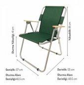 Katlanır Kamp/Bahçe Sandalyesi (Ahşap Kolçaklı)-4