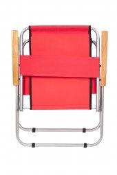Katlanır Kamp/Bahçe Sandalyesi (Ahşap Kolçaklı)-6