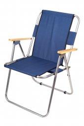 Katlanır Kamp/Bahçe Sandalyesi (Ahşap Kolçaklı)-8