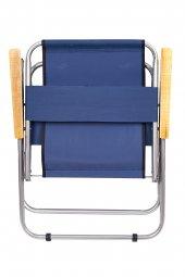 Katlanır Kamp/Bahçe Sandalyesi (Ahşap Kolçaklı)-9