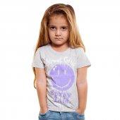 Bani Kids Kız Gri Gülen Yüzlü T-Shirt BNT-96347