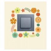 Çiçekler-2 Priz Sticker, Elektrik Düğmesi Sticker