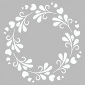 Floral Çerçeve 2 Stencil Tasarımı 30 x 30 cm