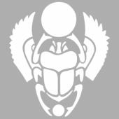 Gergedan Böceği Stencil Tasarımı 30 x 30 cm