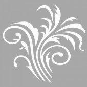 Paris Çiçek Motif Stencil Tasarımı 30 x 30 cm
