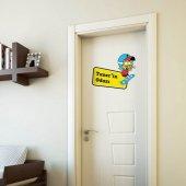 Kral Şakir Oda Kapısı Sticker-2 35x50 cm Çocuk Odası Kapı ve Duvar Sticker