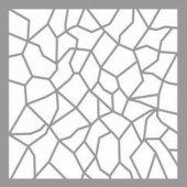Mozaik Vitray Stencil Tasarımı 30 x 30 cm