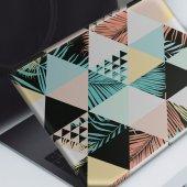 Tropikal Yapraklı Üçgensel Desen Notebook Sticker