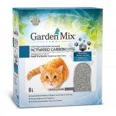 Garden Mix Aktif Karbonlu Kokusuz Kedi Kumu 6 lt