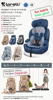 Lorelli Navigator 9-36 Kg Bebek Çocuk Oto Koltuğu-7