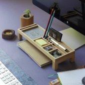 Mini Sharpy Masa Düzenleyici (Gri)