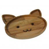 Kedi Figürlü Çocuk Sunum Tahtası