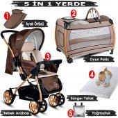 Baby Home 760 Gold Çift Yönlü Bebek Arabası Ve Nanny Bebek Oyun Parkı Yatak Beşik