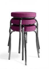 Tabure Mutfak Sandalyesi 3 Adet Pempe