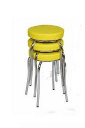 Tabure Mutfak Sandalyesi 3 Adet Sarı