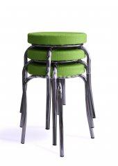 Tabure Mutfak Sandalyesi 3 Adet Yeşil