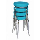 Tabure Mutfak Sandalyesi 4 Adet Mavi
