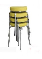 Tabure Mutfak Sandalyesi 4 Adet Sarı