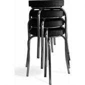 Tabure Mutfak Sandalyesi 4 Adet Siyah