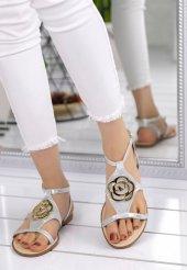 Pink Gümüş Cilt Sandalet