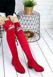 Geomar Kırmızı Süet Çorap Çizme