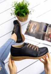 Beliniya Siyah Cilt Oxford Ayakkabı