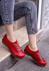 Beliniya Kırmızı Cilt Oxford Ayakkabı