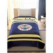 Taç Fenerbahçe Logo Battaniye Tek Kişilik