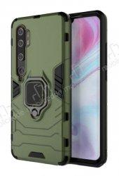 Eiroo Armor Xiaomi Mi Note 10 Standlı Ultra Koruma Yeşil Kılıf