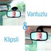 Portakal Safety Vantuzlu-Klipsli Araç içi Bebek Dikiz Aynası