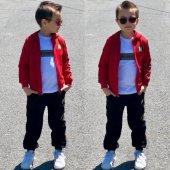 Klasik Kırmızı Erkek Çocuk Eşofman Takımı