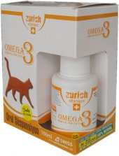 Zurich Cat Omega-3 Balık Yağı Tüy Döküm Önleyici/Tüy Sağlığı 100ml