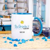 Kişiye Özel Mavi Renkli Su Ürünleri Mühendisi Kupa Bardak - Model 2