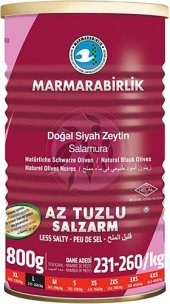 Marmarabirlik Az Tuzlu Zeytin Hiper 800gr. Teneke