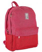 Its Just My Bag Keten Pembe Kırmızı Kız Kolej Okul Çantası - 10015