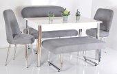 6 Kişilik Masa Sandalye Takımı Banklı Mutfak...
