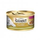 Gourmet Gold Ciğerli Tavşanlı Parça Etli Çifte Lezzet Kedi Konservesi 85 Gr