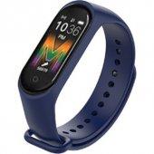 Olix M5 Smart Telefon Görüşmesi Ve Müzik Dinleme Özellikli Akıllı Bileklik Lacivert