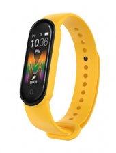 Olix M5 Smart Telefon Görüşmesi Ve Müzik Dinleme Özellikli Akıllı Bileklik Sarı