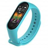Olix M5 Smart Telefon Görüşmesi Ve Müzik Dinleme Özellikli Akıllı Bileklik Mavi