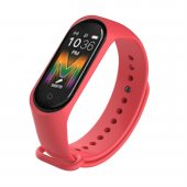 Olix M5 Smart Telefon Görüşmesi Ve Müzik Dinleme Özellikli Akıllı Bileklik Kırmızı