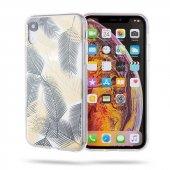 Apple İphone Xr Kılıf Yaprak Desenli Roar Gel Case