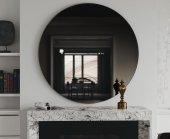 Chic Life Altair Füme Dekoratif Oval - Yuvarlak Ayna 70 cm x 70 cm