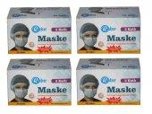 Rabır Telli Cerrahi Maske 3 Katlı 200 Adet (Aparat Hediyeli)