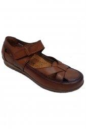 Scavia 184-20 Hakiki Deri Ortopedik Delikli Kadın Ayakkabı
