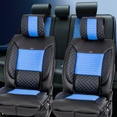 Stil Lüks Oto Koltuk Kılıfı / Siyah Mavi / Mazda 3