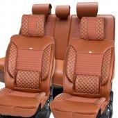 Stil Hafif Ticari Koltuk Kılıfı / Taba / Volkswagen Caddy