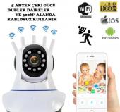360 � Wifi İp Güvenlik Kamera 5 Antenli Gece Görüşlü Sensörlü Harekete Duyarlı