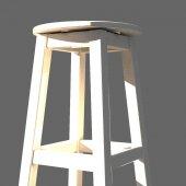 Döner Tabure 60 Cm, Beyaz İskelet (Tabla Renk...