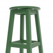 Döner Tabure 60cm Yeşil İskelet Tabla Renk...